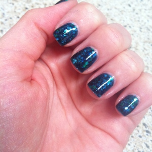 Three Coats of only Across the universe with Seche Vite base and top coat